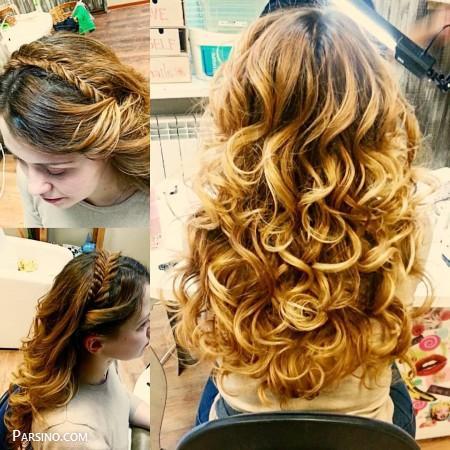 رنگ مو , رنگ موی زنانه , رنگ مو 2018 , رنگ مو کاراملی عروس