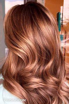 رنگ مو , رنگ موی زنانه , رنگ مو 2018 , رنگ مو کاراملی جدید