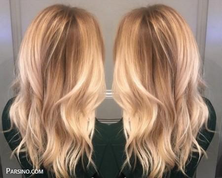 رنگ مو , رنگ موی زنانه , رنگ مو 2018 , رنگ مو کاراملی روشن